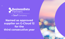Business Data Partners/Talan named as an approved supplier on G-Cloud 12 for the third consecutive year